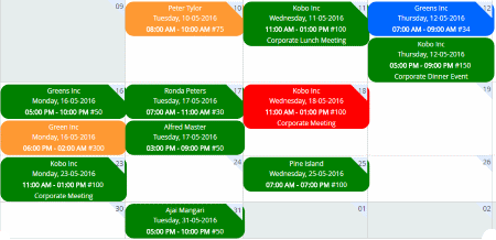 catering software events scheduler and calendar
