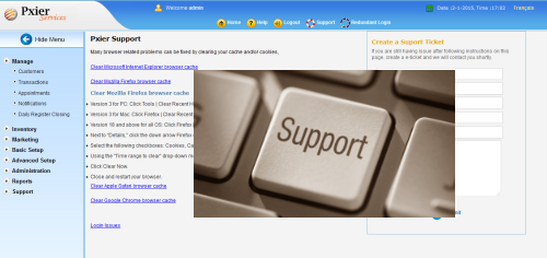 salon software customer support