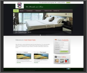 booking website design template