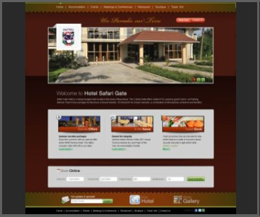 motel website design